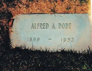 Alfred A. Dodt - Grave